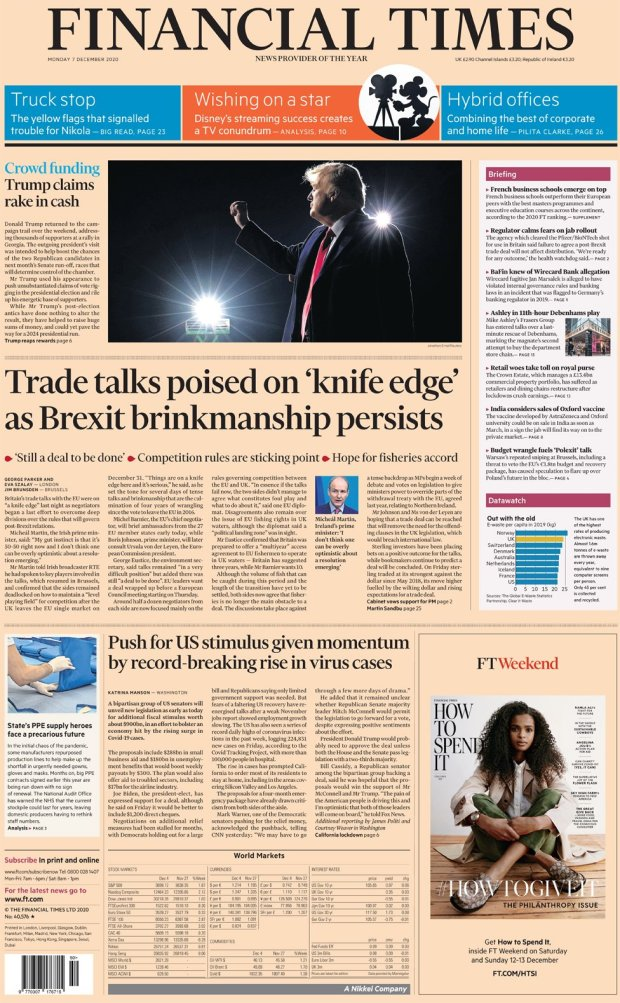 The Financial Times 7 December