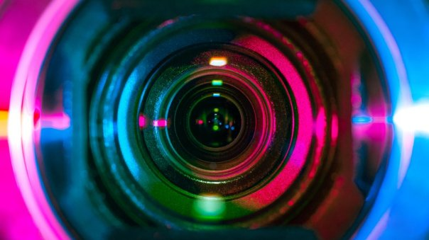 una lente de cámara.