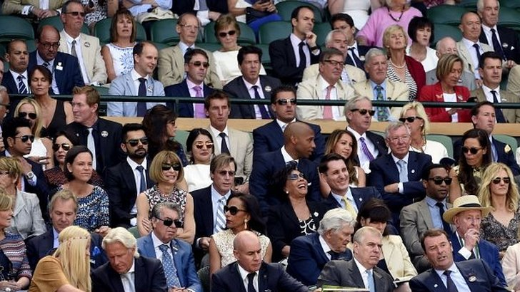 Spot the celebs at Wimbledon