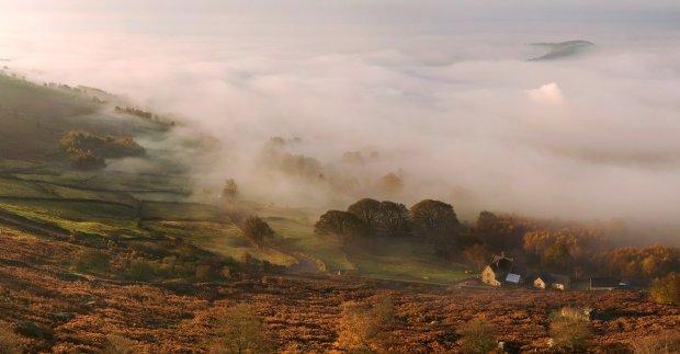 Mist in the Peak District