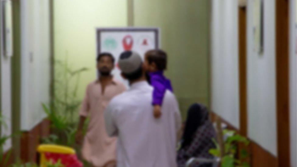Keadaaan klinik anak di Pakistan