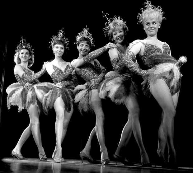 With (from left) Susan Hampshire, Anna Masse, Miriam Karlin and Hayley Mills in the Night of 100 Stars at the London Palladium in 1964