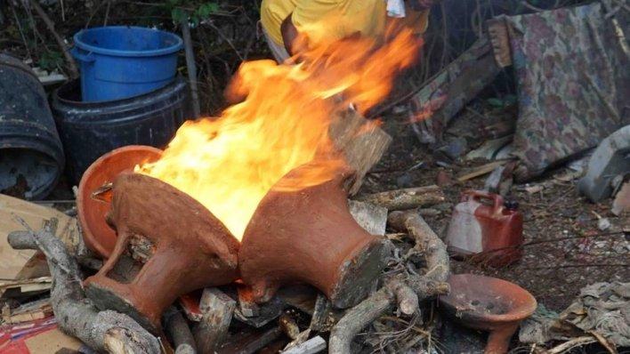 Firing of coal-pots