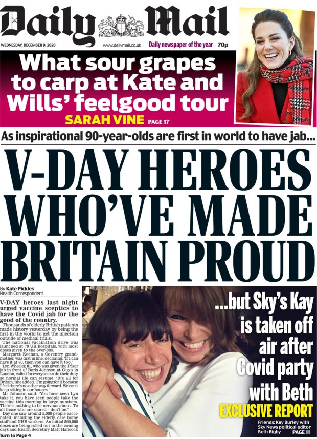 Daily Mail Wednesday 9 December