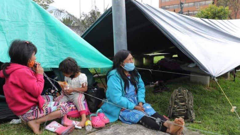Emberas en Bogotá