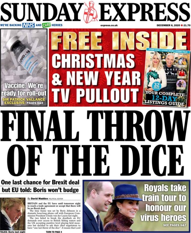 The Sunday Express 6 December