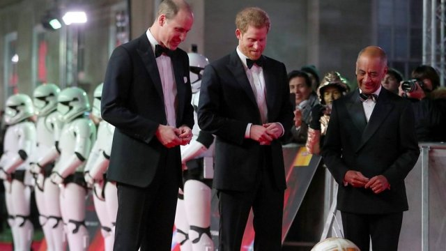 Star power: Princes turn out for Star Wars premiere