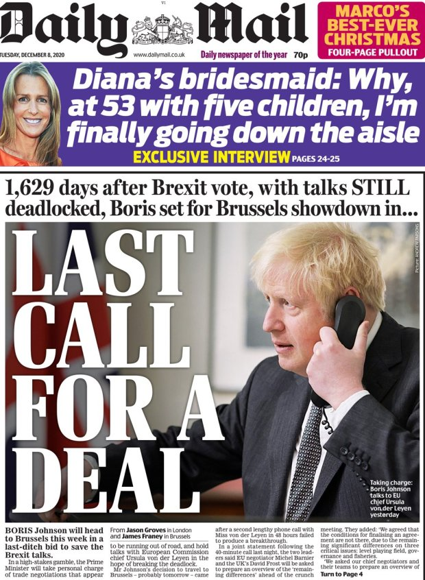 The Daily Mail 8 December
