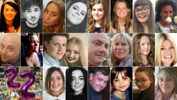 The 22 people killed in the Manchester Arena bombing
