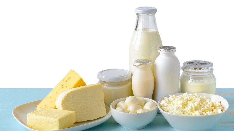 Grupo de lácteos.