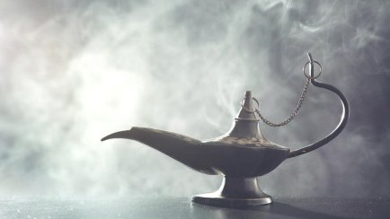 Lámpara mágica.