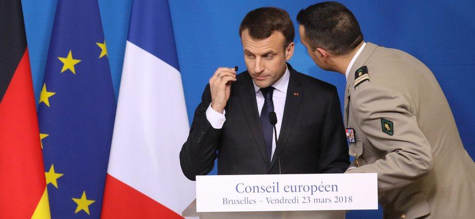 Presidente de Francia Emmanuel Macron
