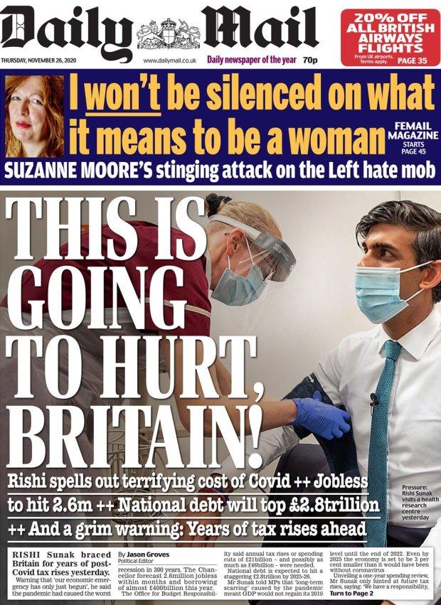 Daily Mail 26 November