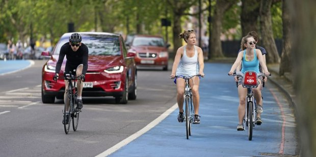 A cycle lane in Chelsea