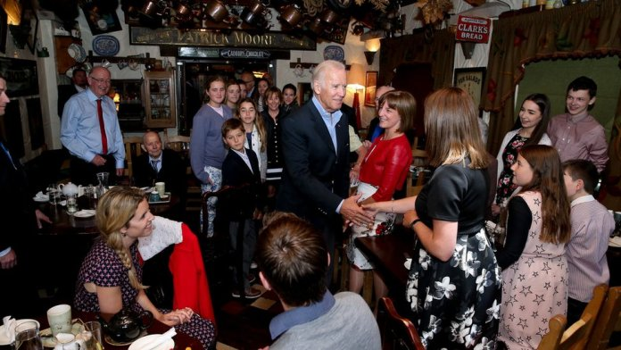Mr Biden met many members of the Kearney clan at a Louth restaurant in 2016