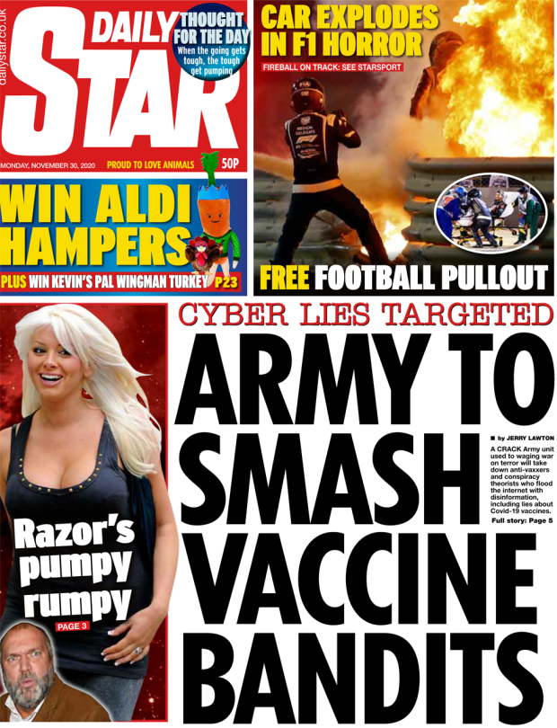 The Daily star front page 30 November 2020