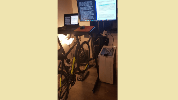Kane Fulton's bike desk