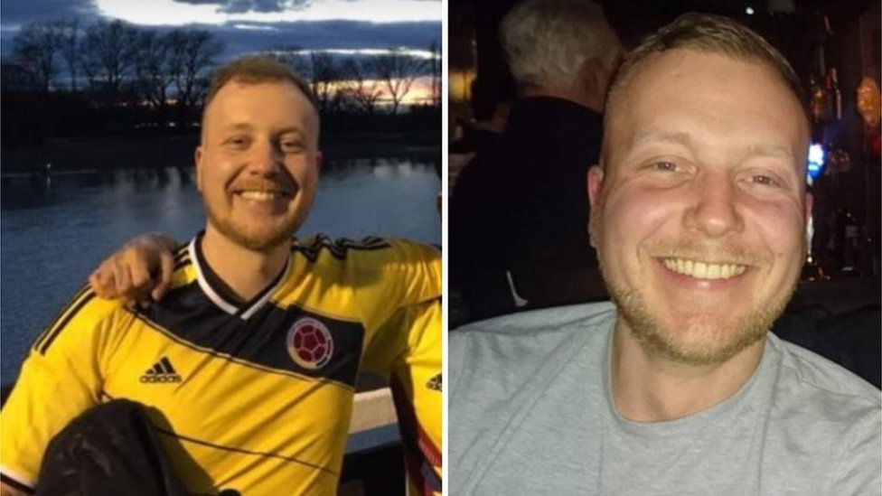 Neil MacVicar before and after his cancer diagnosis