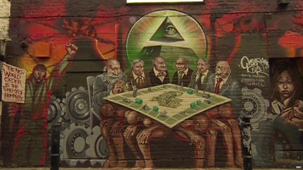 The Freedom for Humanity mural in east London, known as Mear One