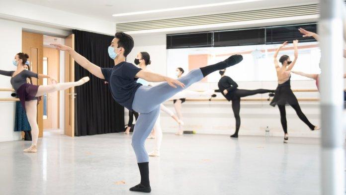 Kamal Singh in ballet class
