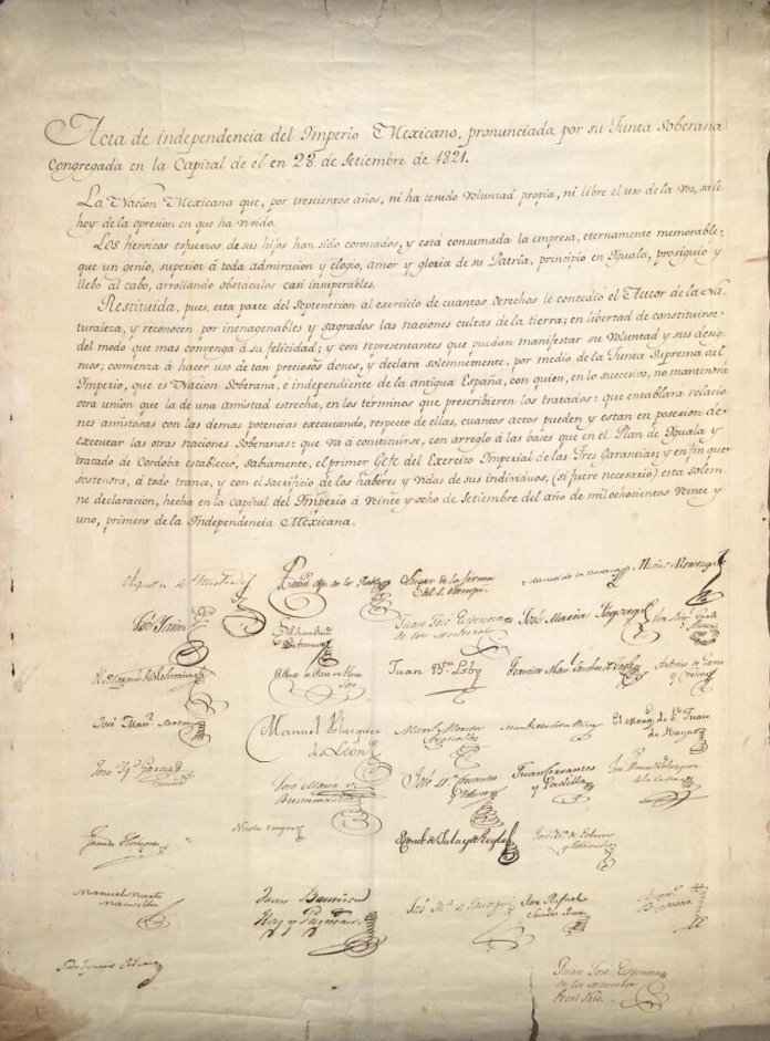 Act of Independence of Mexico of 1821