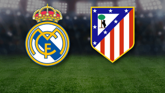 Real Madrid and Atletico Madrid club crests