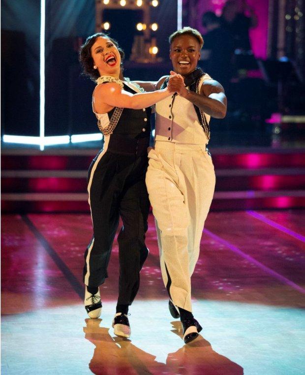 Nicola Adams (left) and Katya Jones