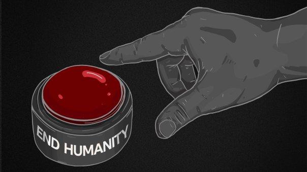 Un dedo se aproxima a un botón rojo