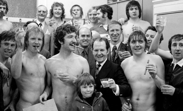 Middlesbrough F.C. 2 - 1 Oxford United F.C. Division Two match held at Ayresome Park. Jack Charlton, manager and players including Graeme Souness. 23rd March 1974