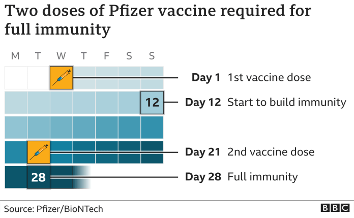 How the Pfizer vaccine requires two doses
