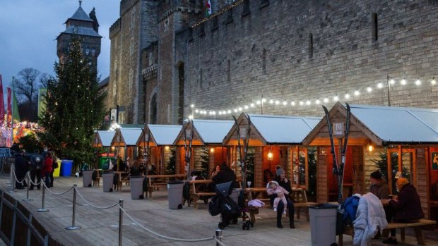People enjoying a drink in Cardiff
