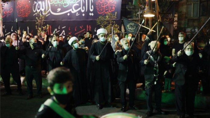 Iranians in religious celebration
