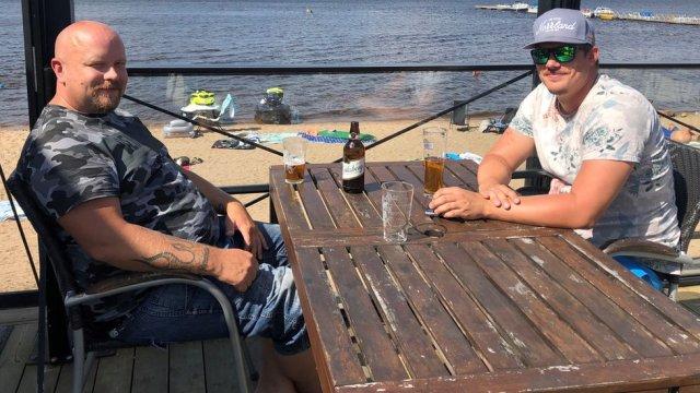 Dan Eklund and friend Hakal Olsson