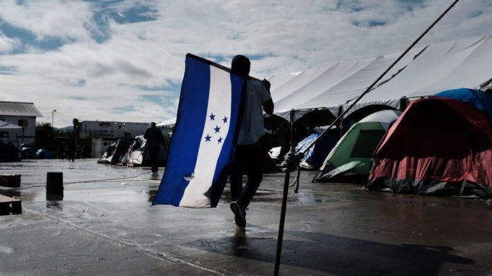 Refugio para migrantes en Tijuana.