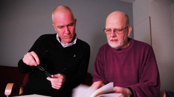 Hannes Råstam junto a Thomas Quick
