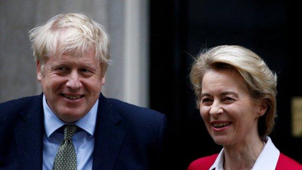 Boris Johnson and EU Commission President Ursula von der Leyen.
