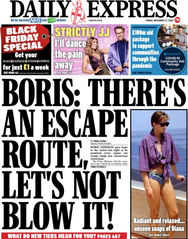 Daily Express 27 November