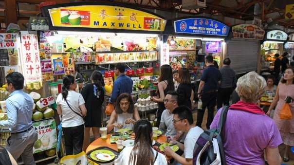 Puestos de comida en Singapur