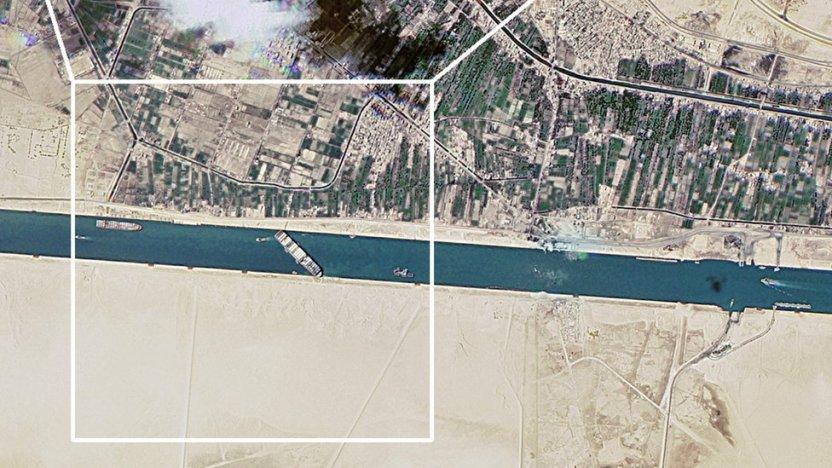 117727495 mediaitem117727494 - Canal de Suez: las impresionantes imágenes satelitales del impacto del bloqueo causado por el Ever Given