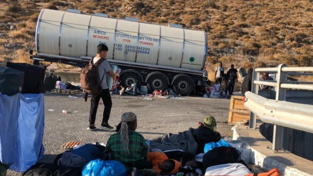 While a solution has been found for illiterate children, other residents of Moria continue to wait