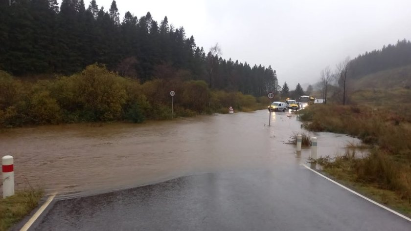 Flooding on the Old Military Road