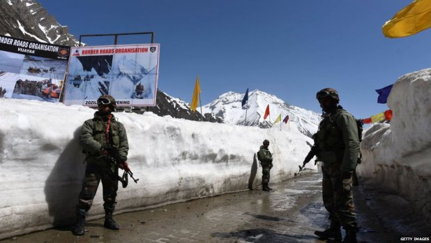 Military personnel along the China-India border
