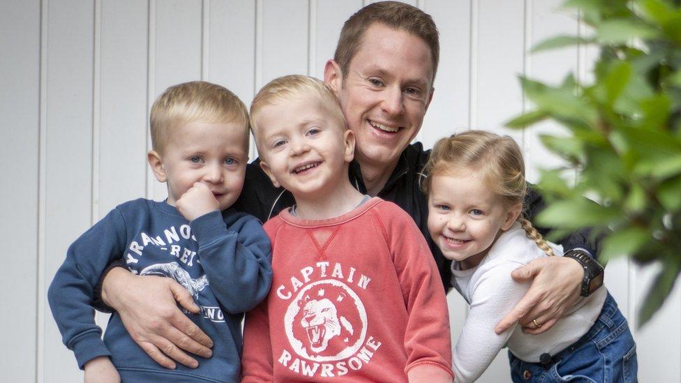 Rob and his three children