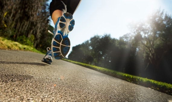 Close Up of Woman Jogging - Photo courtesy of ©iStockphoto.com/nycshooter, Image #15768000