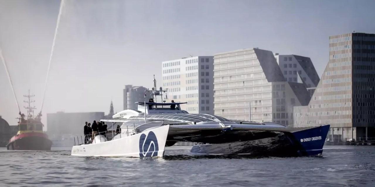 Wasserstoff-Schiff Energy Observer startet mit Verspätung