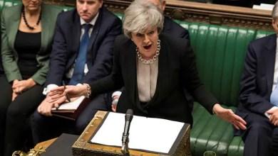 """""""امسك عصبتك في Brexit ،"""" تيريزا مايو أخبر المشرعين البريطانيين 8"""