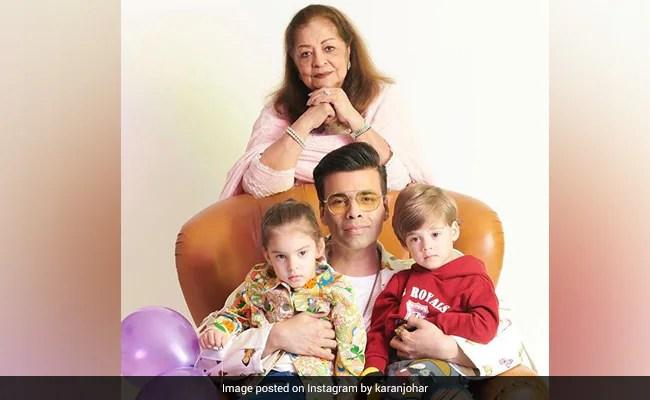 हिरो जौहर, बच्चे यश और रूही के साथ करण जौहर ने इंस्टाग्राम पर एक वीडियो शेयर किया