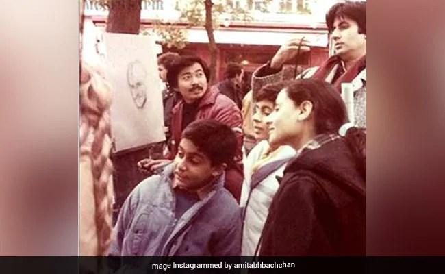 Amitabh Bachchan Decodes Son Abhishek's Expression In This 1985 Pic From Paris, Cracks Shweta Up