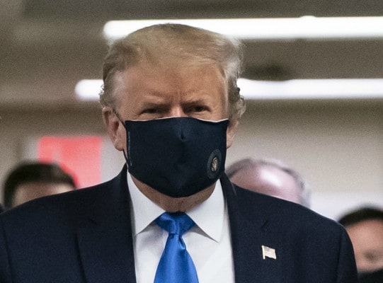 Donald Trump Wears Face Mask In Public For First Time