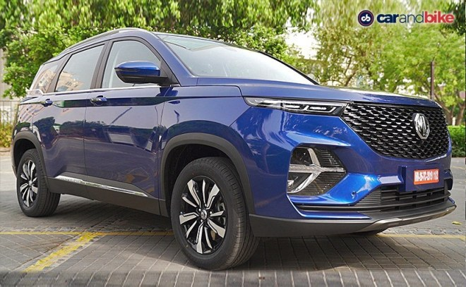 The MG Hector Plus come in 4 trms - Style, Super, Smart, and Sharp, & a new Starry Sky Blue shade